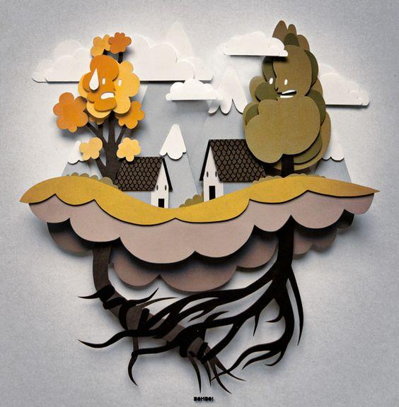 就像玩脚的人一样,有些树木只是想玩弄根!在这个有趣的,由意大利插画家Bombo精心制作的插图中就是这种情况! (又名毛里齐奥桑丘奇)。像一个美好的pu ...