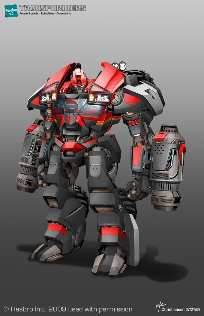 ironhide concept art for tf prime