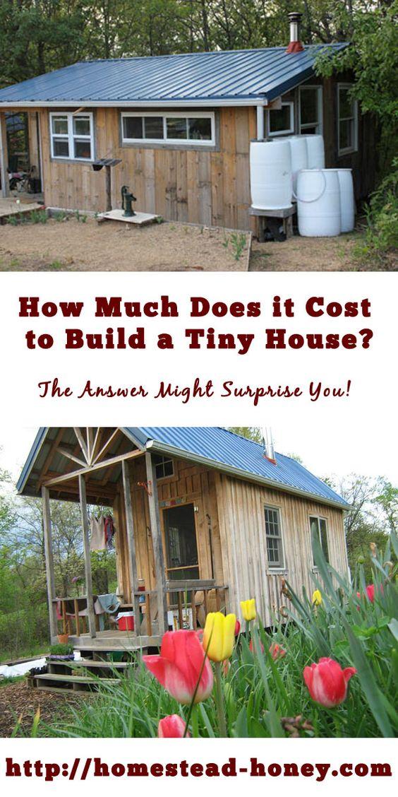 建造一个小房子需要多少钱?以下是手工建造的小房子的两个真实成本比较 - 一个120平方英尺,另一个350平方英尺。