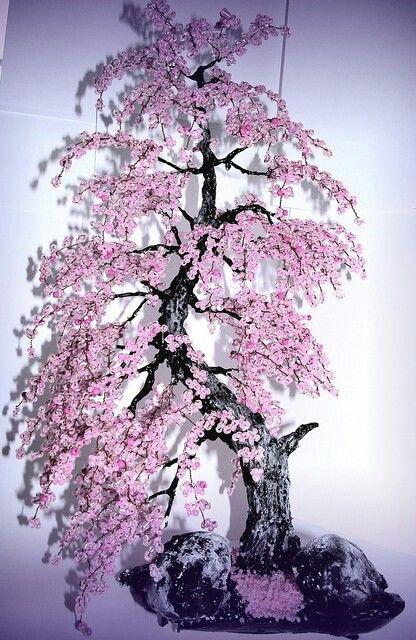 樱花盆景树!多姿多彩的春秋装修。