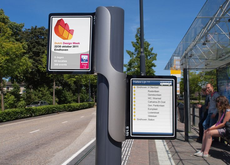 'Info Display' by Dutch industrial design student Dennis Van Melick is an multifunctional digital display unit, adaptable for a range of urban use