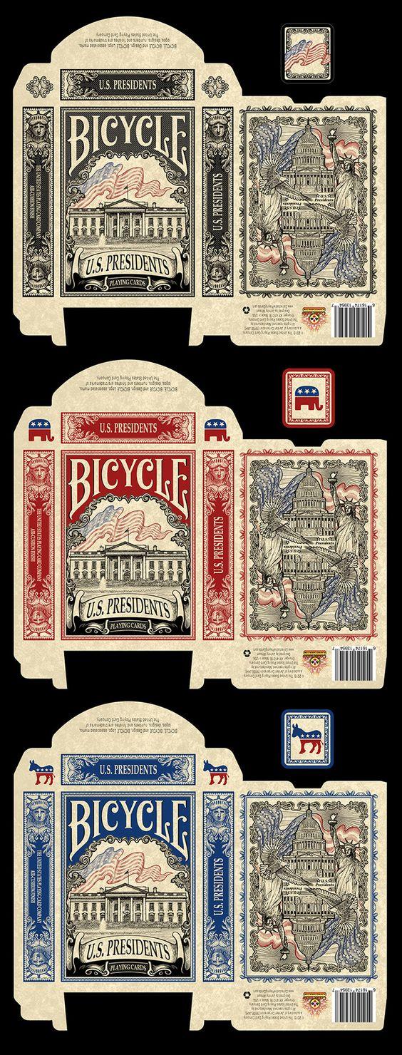 自行车美国总统玩纸牌的收藏纸牌 -  Kickstarter