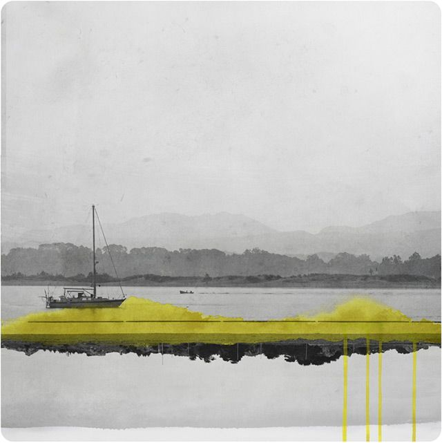 Mirrored Photographs Combined with Watercolor by Fabienne Rivory watercolor collage