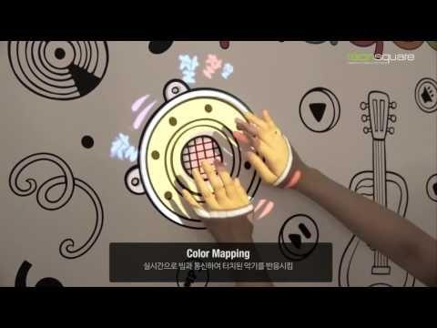 [PLAYDOTA]音乐播放墙:投影测绘,导电墨水,互动艺术 -  YouTube