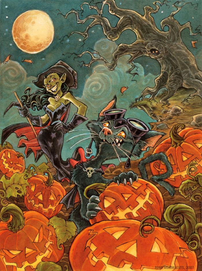 RobbVision || Paintings - Halloween Cat