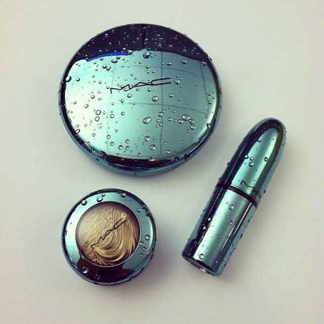 Packaging: MAC's latest collection is covered in faux water droplets