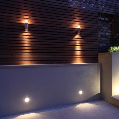 Wall lights for garden deck
