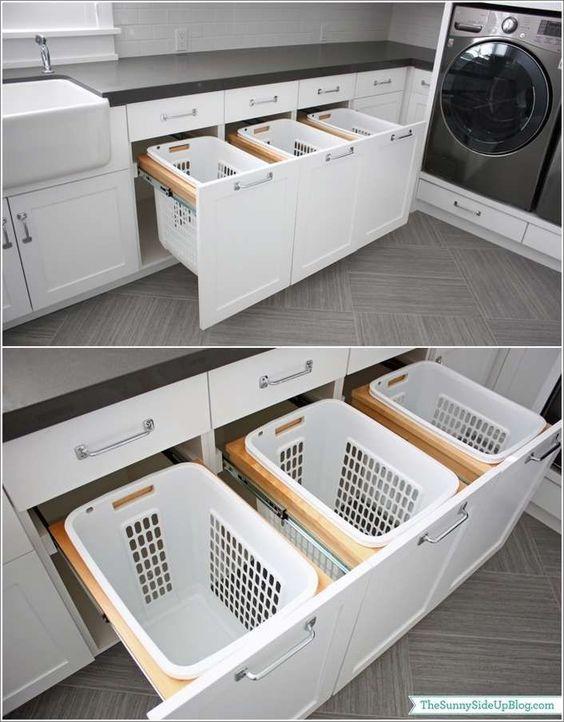 一个伟大的20真棒洗衣间存储和组织的想法收集你的洗衣房清洁和组织。