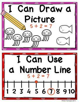您正在为年轻学生收到9个不同的数学海报,以帮助解决问题。非常适合数学工作坊/电台或数学字墙的迷你课程。对Common Core指令的良好支持。所有解决问题的策略都作为数学工具表在一个页面上编译,以便在数学时使用。