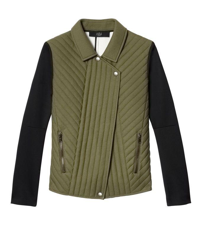 #ShopBAZAAR的军事趋势:Tibi绗缝机车夹克