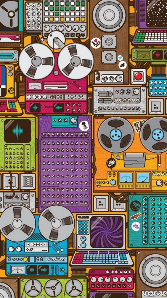 70音乐iPhone壁纸为音乐狂欢