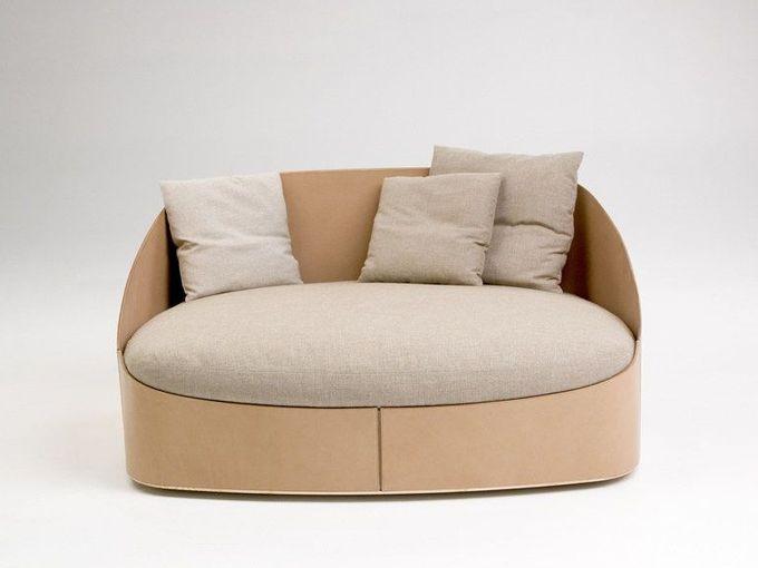 Cotton small sofa LADY CUOIO Cuoio Collection by matteograssi | design Stefano Grassi