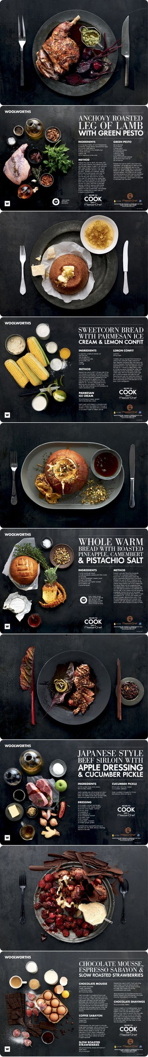 Nice use of grids, easy to read, great on black background - Laura Wall on behance