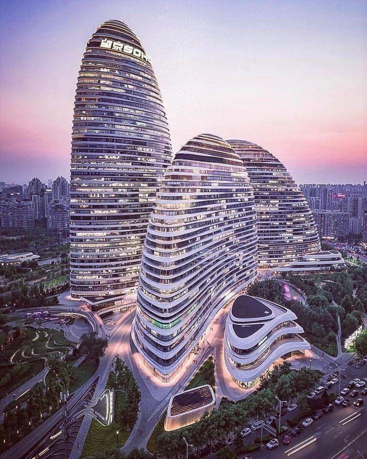Wangjing SOHO | Zaha Hadid Architects Photo via @ pravilion Instagram