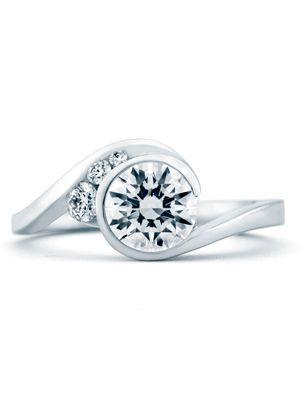 表圈设置:@The Knot现代订婚戒指