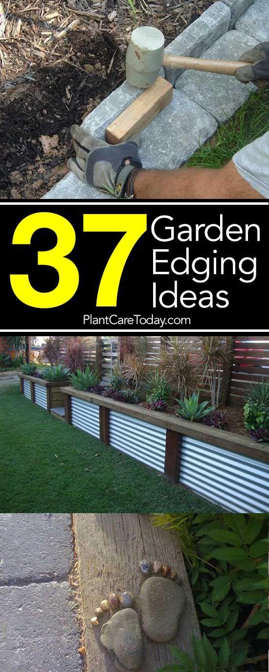 花园边框增添了重要的风景。找到37实用,价格合理和美观的园林边缘理念来夸耀你的草坪和美化环境,让你的花坛边界更具影响力 -  [查看更多]