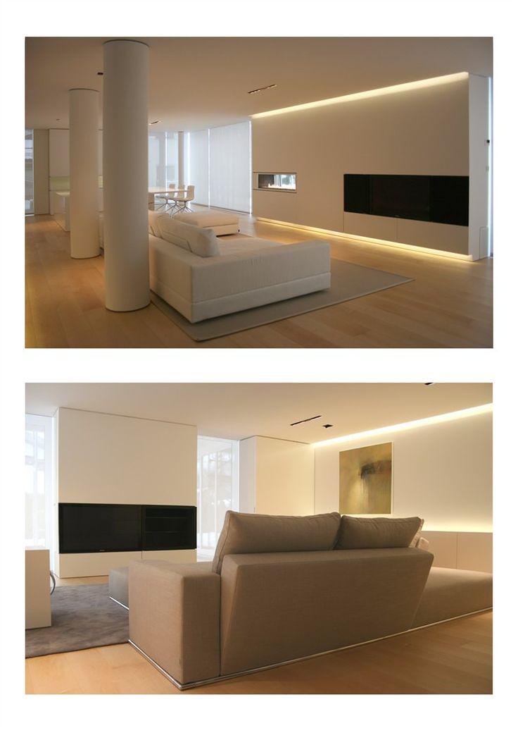 灯 隐藏的灯 建筑照明 白色客厅