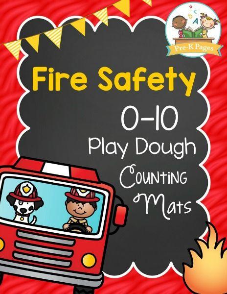 免费的消防安全主题播放面团计数垫,以帮助您的孩子在十岁以内发展数字感和流畅度。