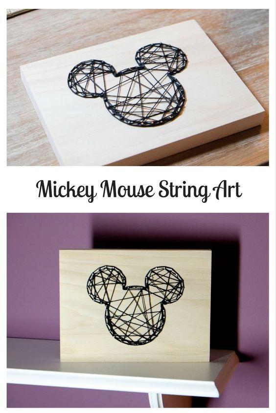 这个米老鼠弦乐艺术是一个有趣的项目,为迪士尼爱家!