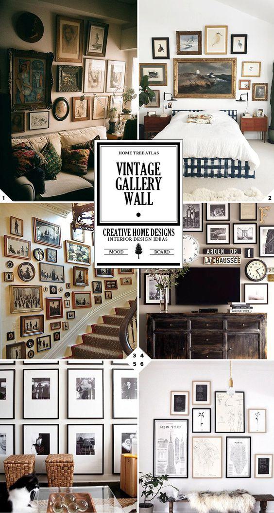 以下是创建自己的复古画廊墙的一些快速提示和想法:混合不同的框架。您不需要将所有框架设计为相同的设计。它们越多越好 - 就像图片中的客厅画廊墙(1)为你的画架加油,或继续......