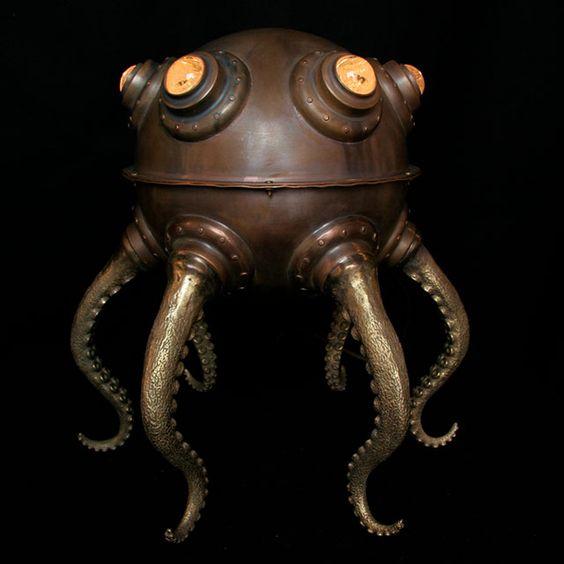 由艺术家埃文·钱伯斯(Evan Chambers)设计的古铜灯和铜灯雕塑。