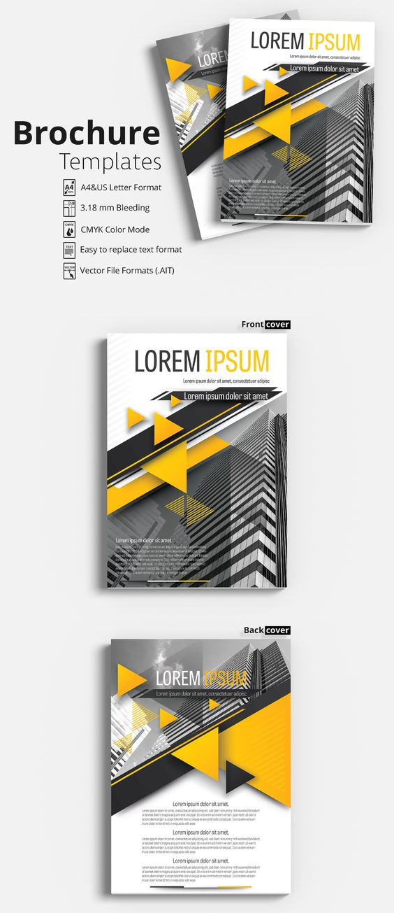 Flyer - Brochure Layout - with Gray and Orange Accents 11 - Flyer template | Flyer design layout | Brochure template | Brochure design template | Flyers | Template | Brochures | Flyer Background | Background design