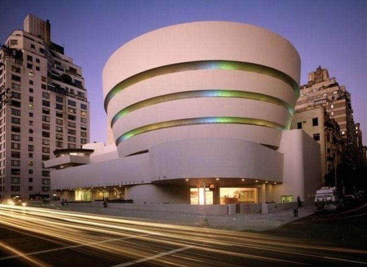 Guggenheim Museum @ night. NYC