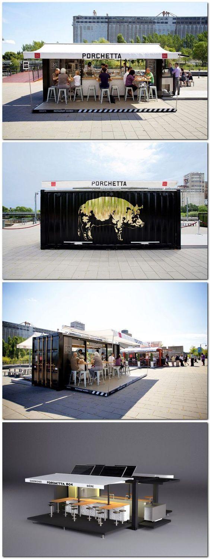 porchetta shipping container kiosk