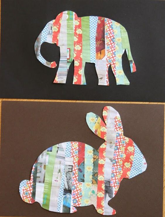 与儿童一起制作:纸条动物剪影| artsy蚂蚁简单易用的儿童工艺品