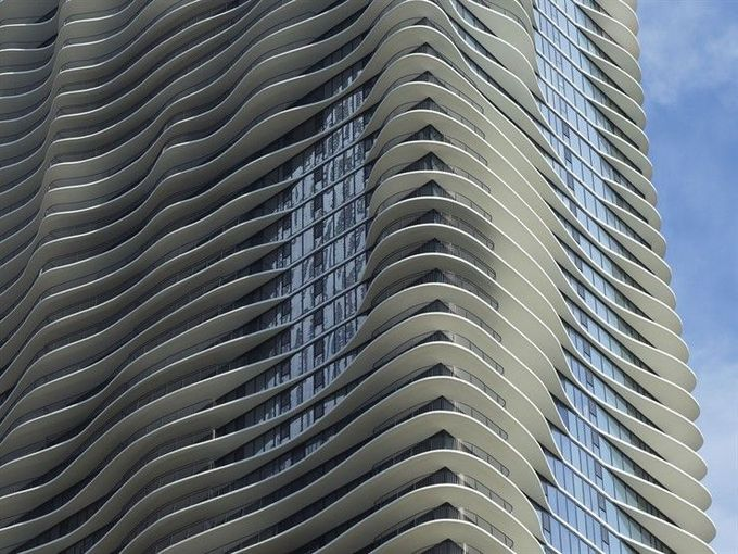 Aqua Tower, Chicago , USA , 2012 by Studio Gang Architects #architecture #tower