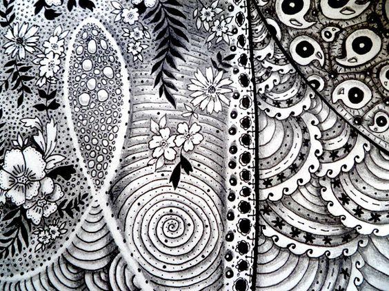 First Zentangle | Melissa Brunet's illustration & graphic design blog
