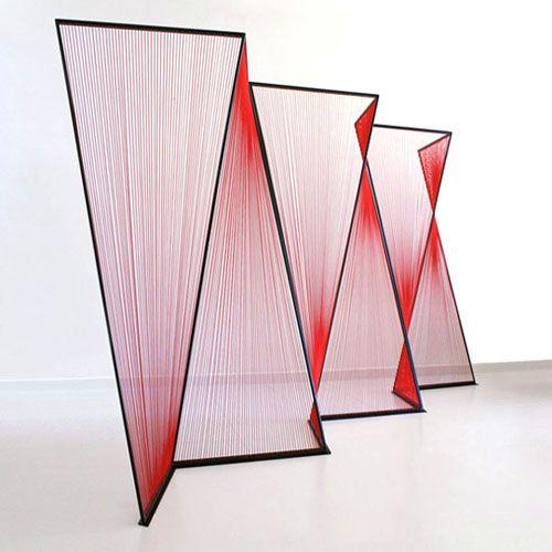 string-art wall divider