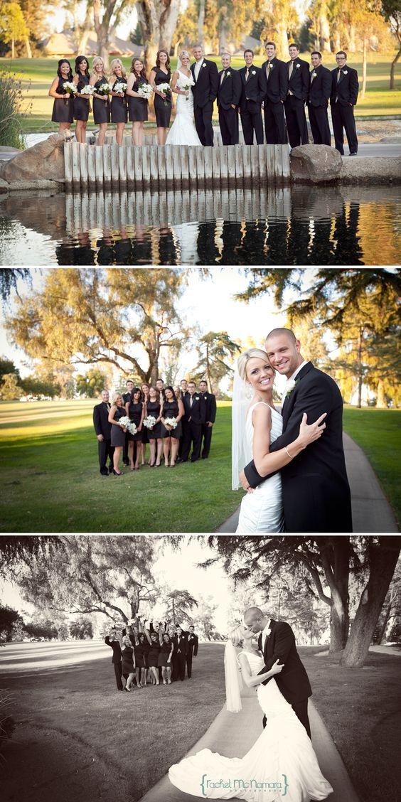 新娘派对照片 - 高尔夫球场婚礼