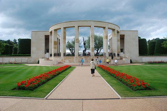 Colleville-sur-Mer,美国军事公墓在法国诺曼底。