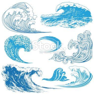 波浪在不同的技术中的集合。