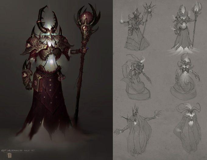 Necromancer Mage Minion by *ArtofTy on deviantART