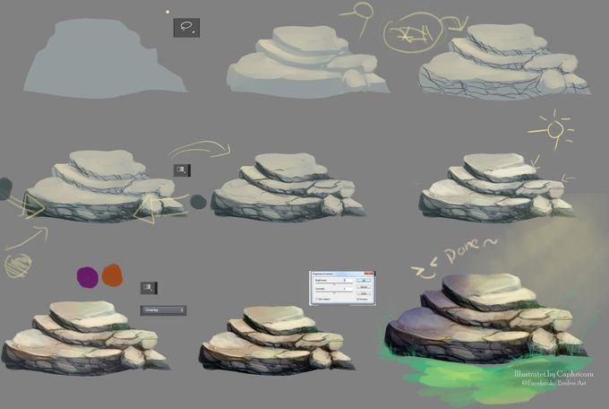 Tutorial How I make the stone by Caphricorn.deviantart.com on @deviantART