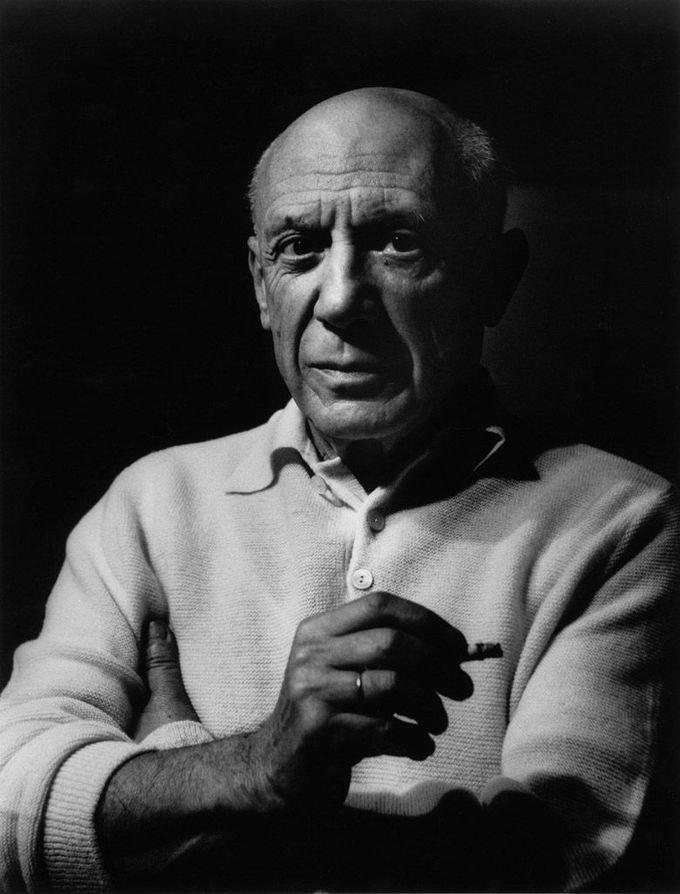 Picasso à la cigarette I,1956 © Lucien Clergue