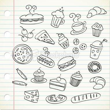 食物涂鸦插图