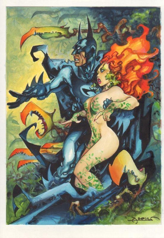 Batman & Poison Ivy by Alfonso Azpiri