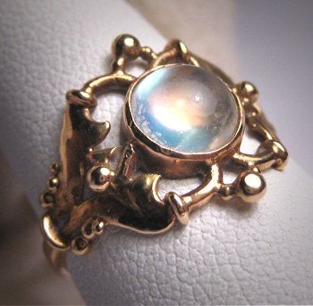 ON HOLD Antique Victorian Moonstone Ring Vintage Wedding 1890s