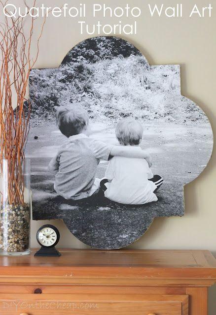 这quatrefoil照片墙艺术教程将引导你通过创建自己独特的艺术作品的过程。