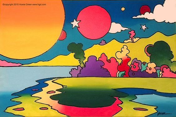 一个古怪的多彩波普艺术山水画的乐趣。在www.hgd.co查看更多我的作品感谢您的关注。