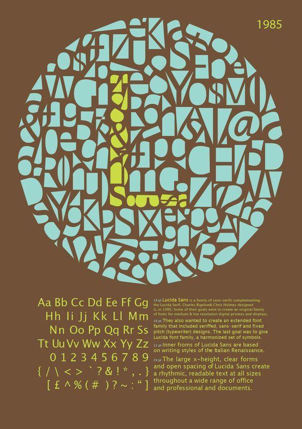 Lucida Typeface Poster by Adhila Marz, via Behance