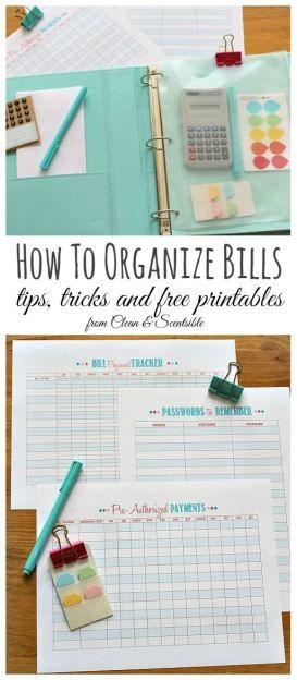 了解如何使用这些免费的印刷品和简单的提示和技巧来组织账单,再也不会错过账单付款!
