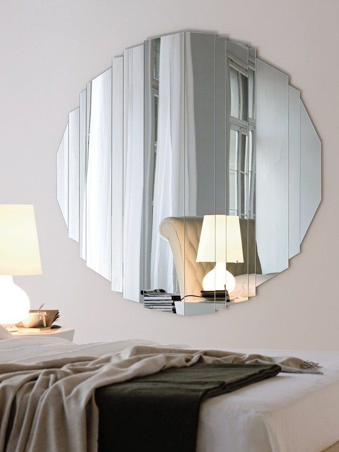 Wall-mounted #mirror STRIPES by Cattelan Italia | #design Paolo Cattelan