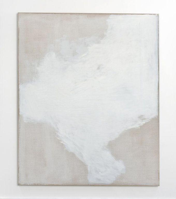 John Zurier / For A Swedish Painter, TorstenAndersson, 2010  Distemper, Enamel, Oil on Linen  78 x 64 in. (198.12 x 162.56 cm)