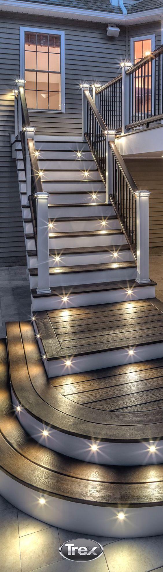 户外步骤照明装置的集合,包括楼梯照明美观,安全,照明户外步骤的想法[了解更多]