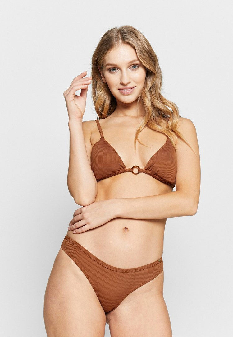 Avalon Beach Bandeau Two Piece Swimwear - Tangerine   - Wear out your summer days; get the most out of your vacations! Wear this simply gorgeous bandeau bathing suit and enjoy the hot sun, the warm beach and some cold drinks.   - Price $130