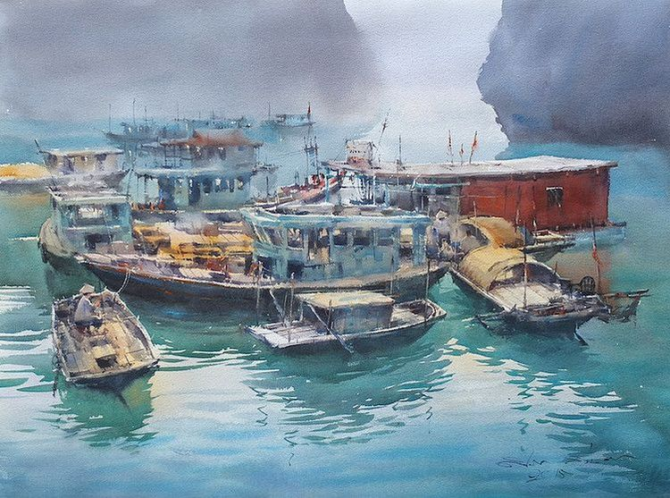 Direk Kingnok, Impression of mine in Ha Long Bay, Vietnam
